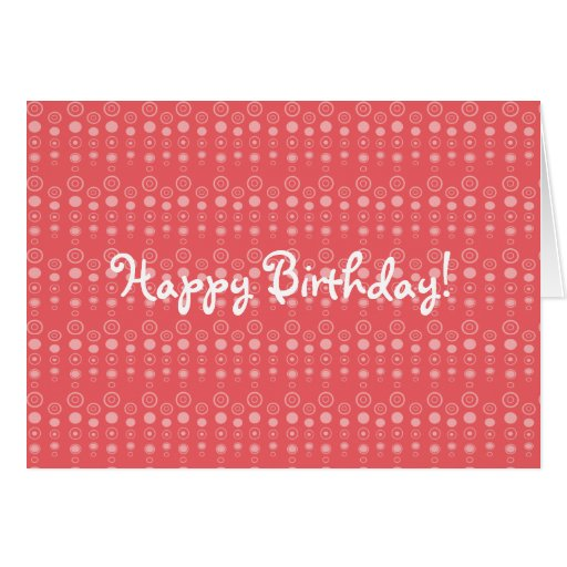 Red bubble pattern card