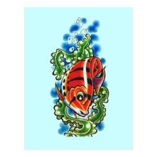 red bubblefish postcard