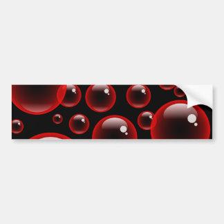 Red Bubbles Bumper Stickers