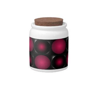 Red bubbles interesting unusual cricketdiane art candy jar