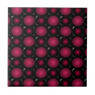 Red bubbles interesting unusual cricketdiane art tile