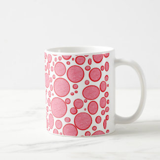 Red Bubbles Lightened Mug