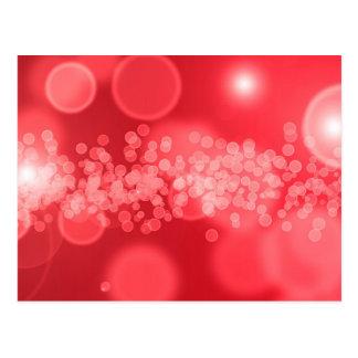 red bubbles postcard