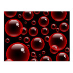 Red Bubbles Postcards