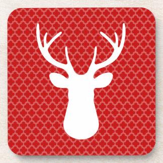 Red Buck Deer Beverage Coaster