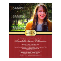 Red Buckle Band Graduation Announcement