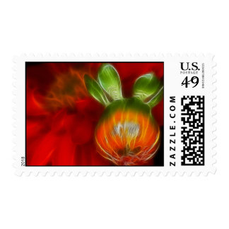 Red Bud and Flower Postage Stamp
