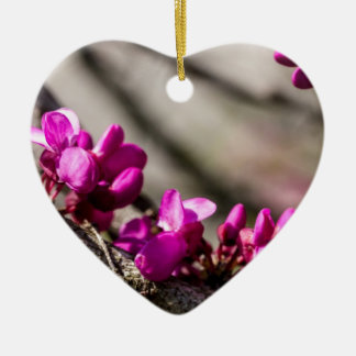 Red Bud Blooming Ceramic Ornament