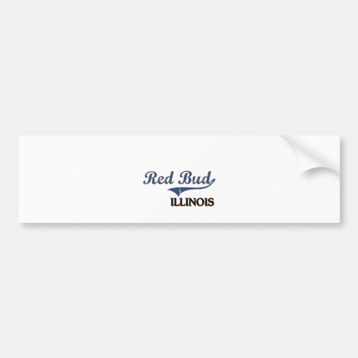 Red Bud Illinois City Classic Car Bumper Sticker