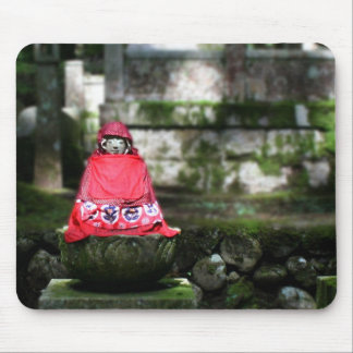 Red Buddha / Jizo in Forest Mousepad