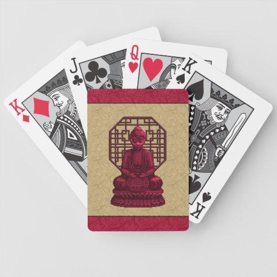 Red Buddha Pixel Art Bicycle Playing Cards