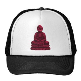 Red Buddha Pixel Art Trucker Hat