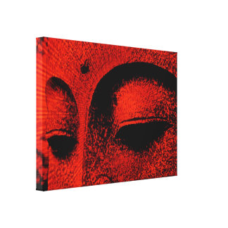 Red Buddha Wrapped Canvas