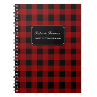 Red Buffalo Check Gingham Pattern Notebook