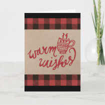 Red Buffalo Plaid Christmas Holiday Card