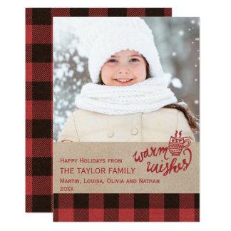 Red Buffalo Plaid Christmas Photo Card