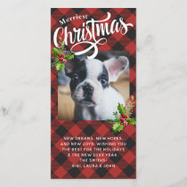 Red Buffalo Plaid Christmas Photo Card
