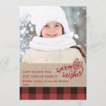 Red Buffalo Plaid Christmas Photo Holiday Card