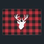 """Red Buffalo Plaid Deer Head Placemat<br><div class=""""desc"""">Red Buffalo Plaid Deer Head</div>"""