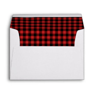 Red Buffalo Plaid Envelopes