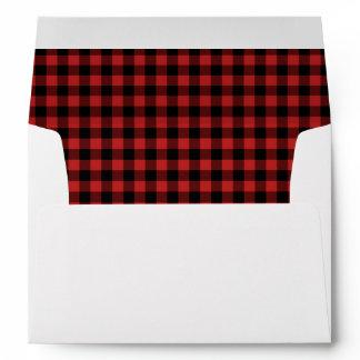 Red Buffalo Plaid Envelopes