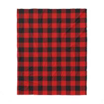 Red Buffalo Plaid Fleece Blanket