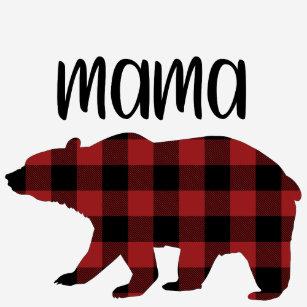 1dd8fb22 Red Buffalo Plaid Mama Bear Holiday Gift T-Shirt