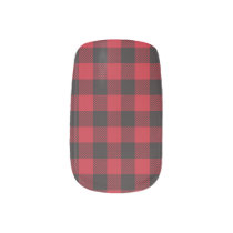 Red Buffalo Plaid Minx Nail Wraps