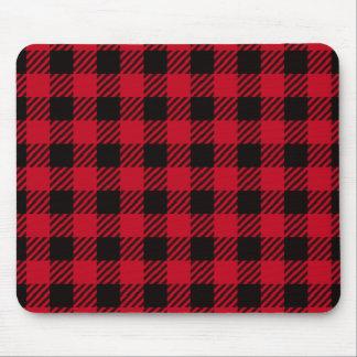 Red Buffalo Plaid Mouse Pad