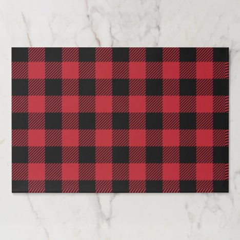 Red Buffalo Plaid Paper Placemat