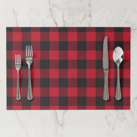 Red Buffalo Plaid Placemat