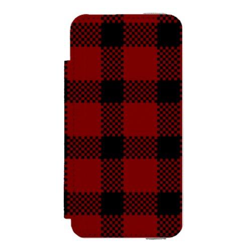 Red buffalo plaid print Phone Case