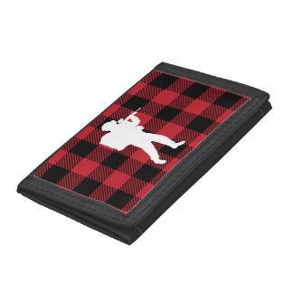 Red Buffalo Plaid Soldier Trifold Wallet
