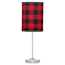 Red Buffalo Plaid Table Lamp