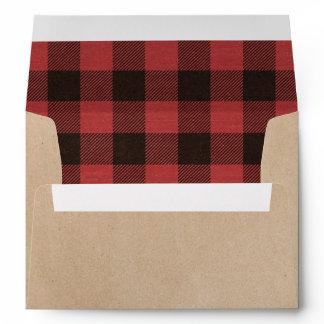 Red Buffalo Plaid Warm Wishes Christmas Envelope