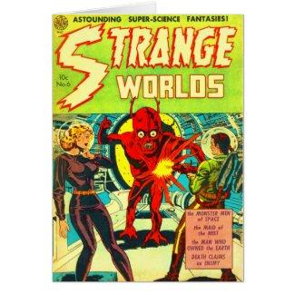 Red Bug Eyed Monster Card