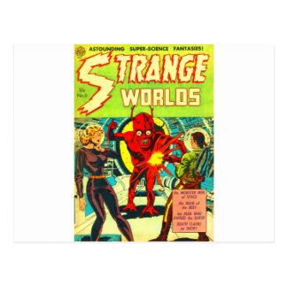 Red Bug Eyed Monster Postcard