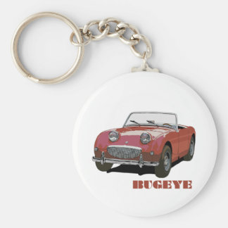 Red Bugeye Basic Round Button Keychain