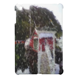 Red building by the sea iPad mini cases