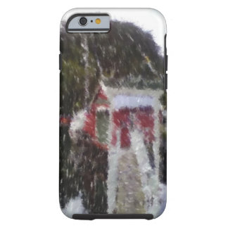 Red building by the sea tough iPhone 6 case