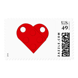Red Building Heart Stamp