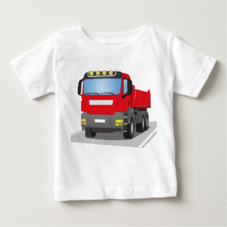 red building sites truck baby T-Shirt