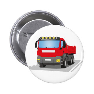 red building sites truck pinback button