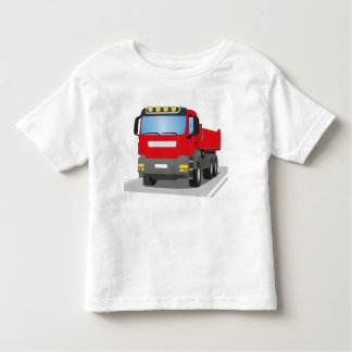 red building sites truck toddler t-shirt