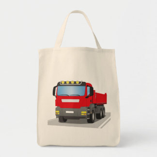 red building sites truck tote bag