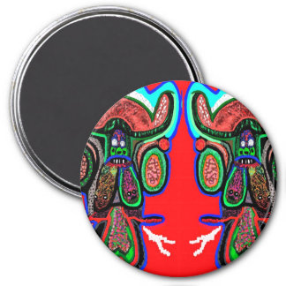 RED BULL on CLOUD NINE: TEMPLATE cartoon funny 3 Inch Round Magnet
