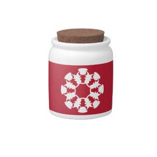 Red Bull snowflake-design candy jar