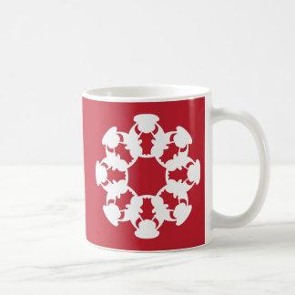 Red Bull snowflake-design mug