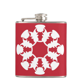 Red Bull snowflake-design vinyl-wrapped flask