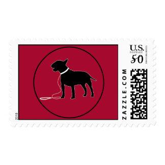 Red Bull Terrier Stamp